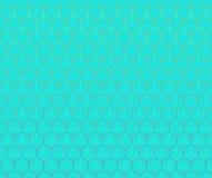 蓝色六角纹理 免版税库存照片