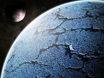 蓝色其行星卫星 库存例证