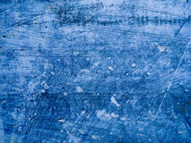 蓝色具体水泥纹理 抓痕,五谷,噪声长方形邮票 安置在所有对象的例证造成脏的影响 免版税图库摄影