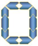蓝色典雅的框架传染媒介 免版税库存照片