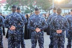 蓝色军队人 免版税库存图片