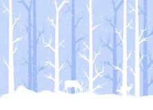 蓝色冬天三鹿 免版税库存图片