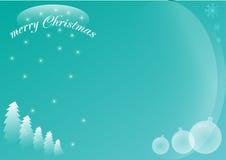 蓝色冬天圣诞卡 库存照片