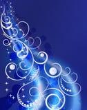 蓝色冬天装饰品 免版税库存图片