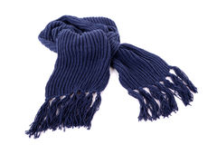 蓝色冬天围巾 图库摄影