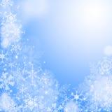蓝色冬天wallaper 免版税库存照片