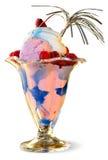 蓝色冰冰淇凌 库存图片