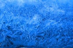 蓝色冰层 免版税库存照片