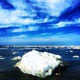 蓝色冰山 库存图片