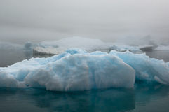 蓝色冰山Narsarsuaq 免版税图库摄影