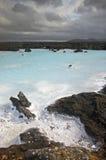 蓝色冰岛盐水湖温泉 免版税库存图片