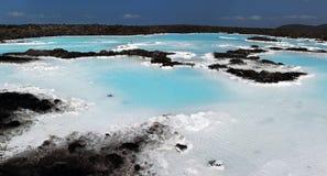 蓝色冰岛盐水湖 雷克雅未克 免版税库存图片