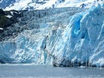 蓝色冰川冰 库存照片