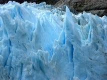 蓝色冰川冰 库存图片