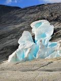 蓝色冰川,冰山 图库摄影
