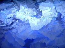 蓝色冰川 免版税库存照片