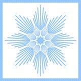 蓝色冰星形 向量例证