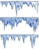 蓝色冰柱熔化 皇族释放例证
