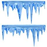 蓝色冰柱 皇族释放例证