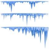 蓝色冰柱 库存例证