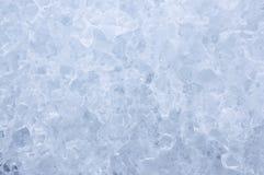 蓝色冰纹理 库存照片