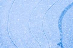 蓝色冰背景纹理 免版税库存照片
