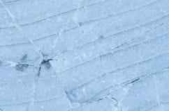 蓝色冰背景纹理 图库摄影