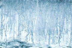 蓝色冰表面纹理  免版税库存照片