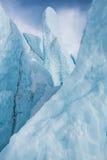 蓝色冰10,000年冰川阿拉斯加 库存照片