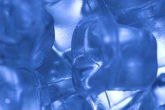蓝色冰 库存照片