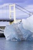蓝色冰jokulsarlon冰岛 库存照片