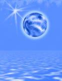 蓝色冷世界 免版税库存图片
