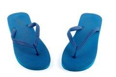蓝色凉鞋 库存图片