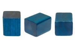 蓝色几何形状 库存图片