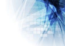 蓝色几何技术概念背景 库存照片