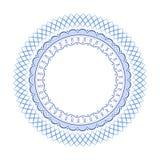蓝色几何抽象俄国瓷 免版税库存图片