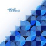 蓝色几何抽象背景。 免版税库存图片