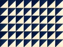 蓝色几何样式瓦片的汇集 免版税库存图片
