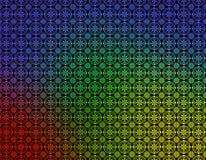 蓝色几何绿色红色墙纸黄色 免版税库存照片