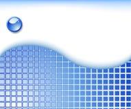 蓝色几何高技术模板 库存照片