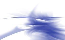 蓝色分数维 免版税库存照片