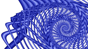 蓝色分数维图象旋涡 库存图片