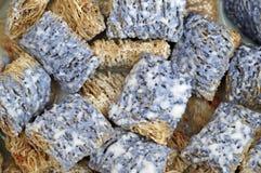 蓝色切细的麦子 库存照片