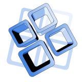 蓝色创新表面 免版税库存图片