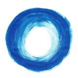 蓝色刷子油漆 库存图片