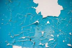 蓝色削皮油漆 免版税库存图片