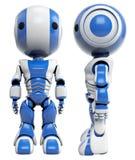 蓝色前机器人端 图库摄影
