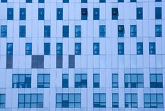 蓝色办公室定了调子视窗 免版税库存照片