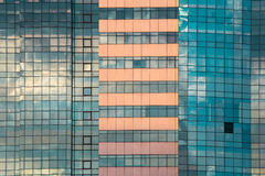 蓝色办公室窗口,背景 图库摄影