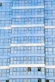 蓝色办公室窗口 免版税库存图片